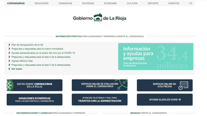 Página de La Rioja