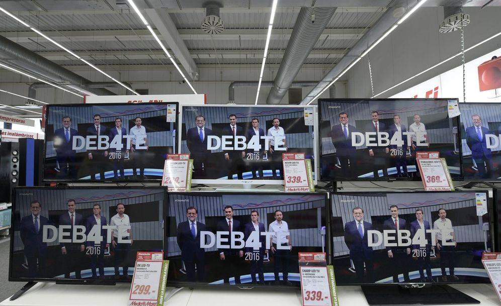 Foto: Mariano Rajoy, Pedro Sánchez, Albert Rivera y Pablo Iglesias, en el último debate electoral, el 13 de junio de 2016. (Reuters)