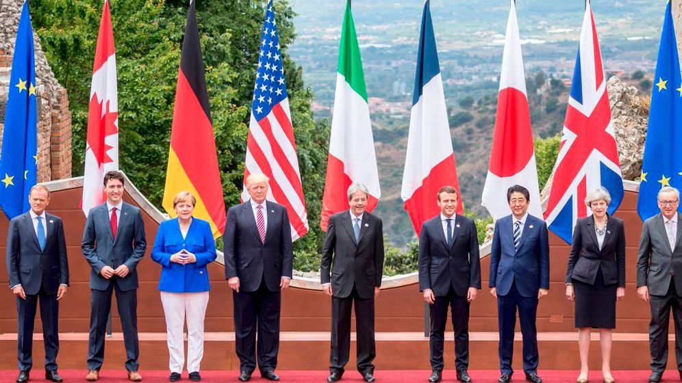 Foto: Los líderes del G-7, en 2018. (Reuters)