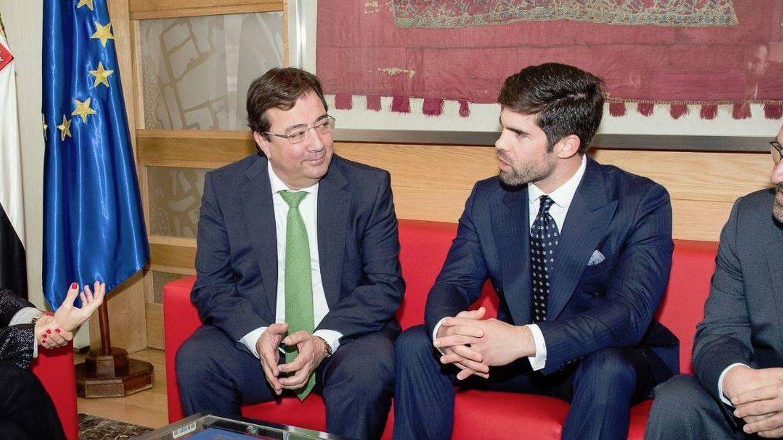 Guillermo Fernández Vara, con Fernando Palazuelo Barroso.