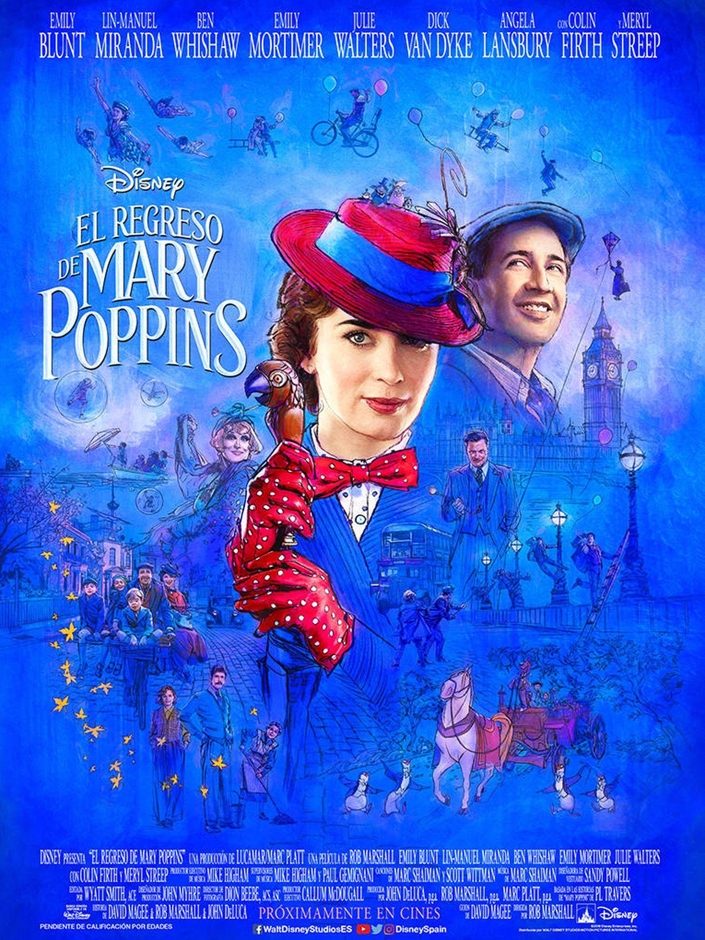 Cartel de 'El regreso de Mary Poppins'.