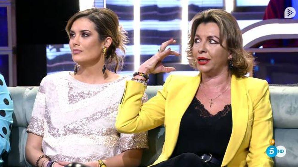 Foto: La madre de Antonio Tejado enfrentándose a Candela en 'GH Dúo'. (Telecinco)