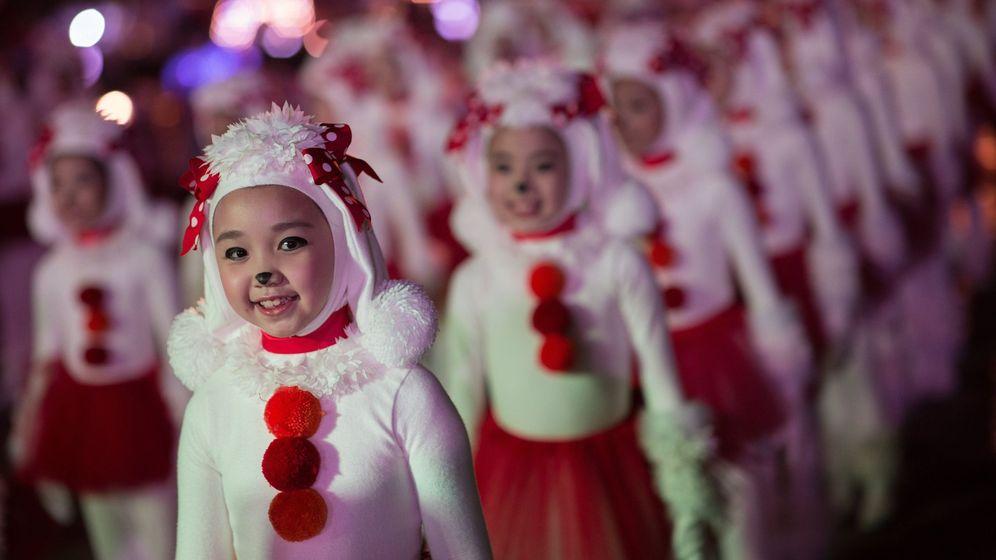 Foto: Desfile de Año Nuevo en Hong Kong. (EFE)
