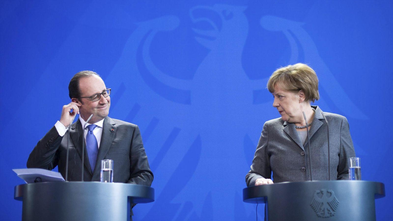 Foto: François Hollande y Angel Merkel (EFE)
