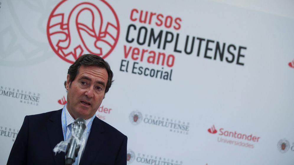 Foto: El presidente de la CEOE, Antonio Garamendi