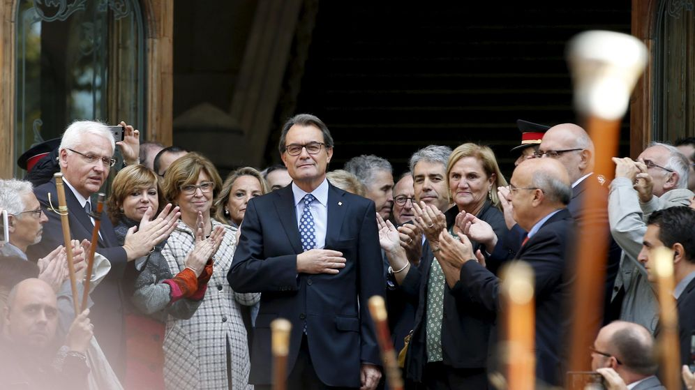 Foto: Artur Mas, president de la Generalitat de Cataluña, tras declarar ante el TSJC. (Reuters)