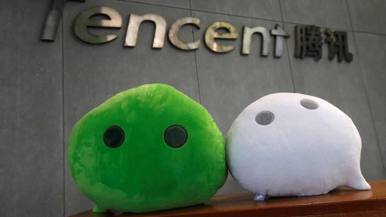 Mascotas de Wechat. (Reuters)