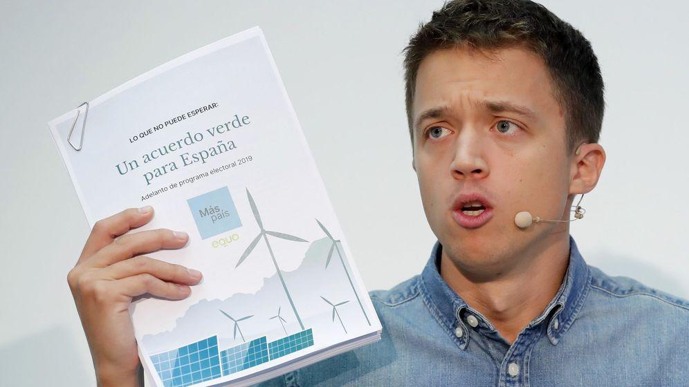 Foto: El líder de Más País, Íñigo Errejón, durante la presentación de su programa, que centra sus propuestas en la transición ecológica. (EFE)