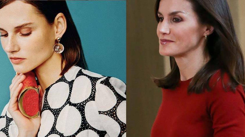 La modelo y Letizia. (Carolina Herrera/Getty)