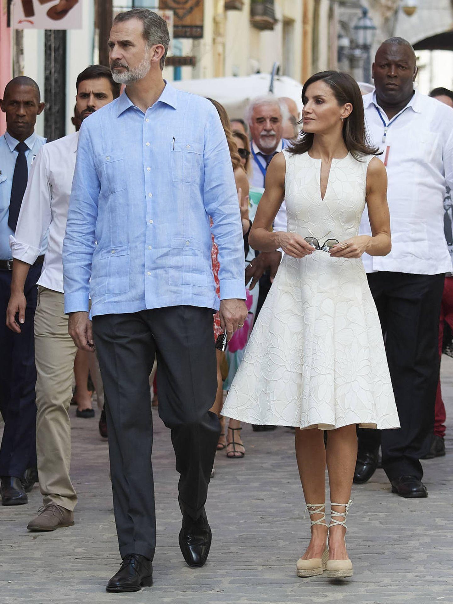 Los Reyes, paseando por La Habana. (Getty)
