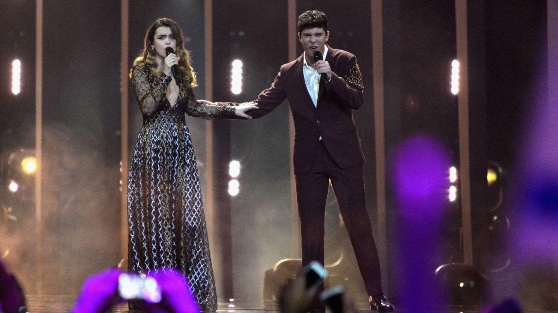 Amaia y Alfred, en Eurovisión. (Getty)