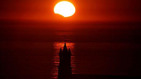 Así fue el eclipse solar parcial