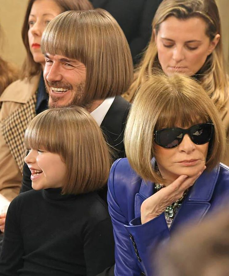 Foto: La imagen del día, Anna Wintour y Harper Beckham con el mismo peinado. (@siduations)