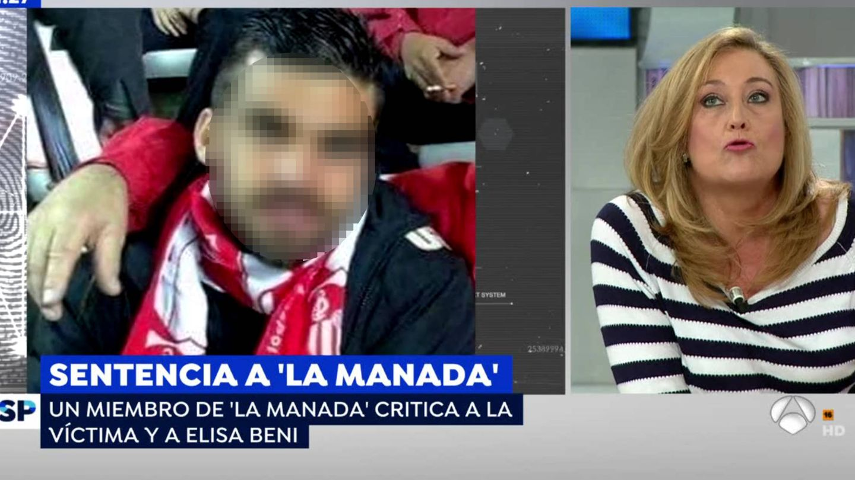 Elisa Beni responde al miembro de La Manada.