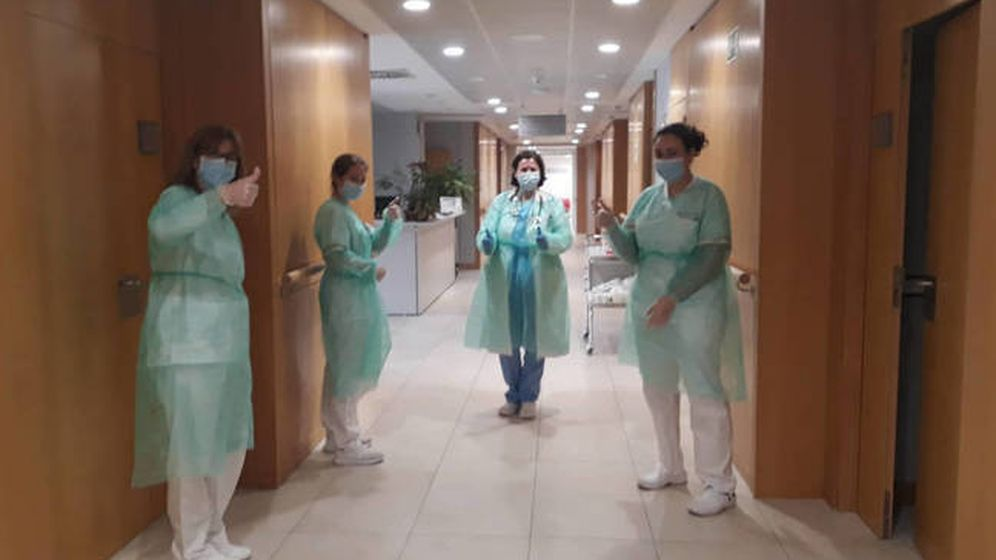 Foto: Equipo sanitario del Hospital Central de Cuidados Laguna.
