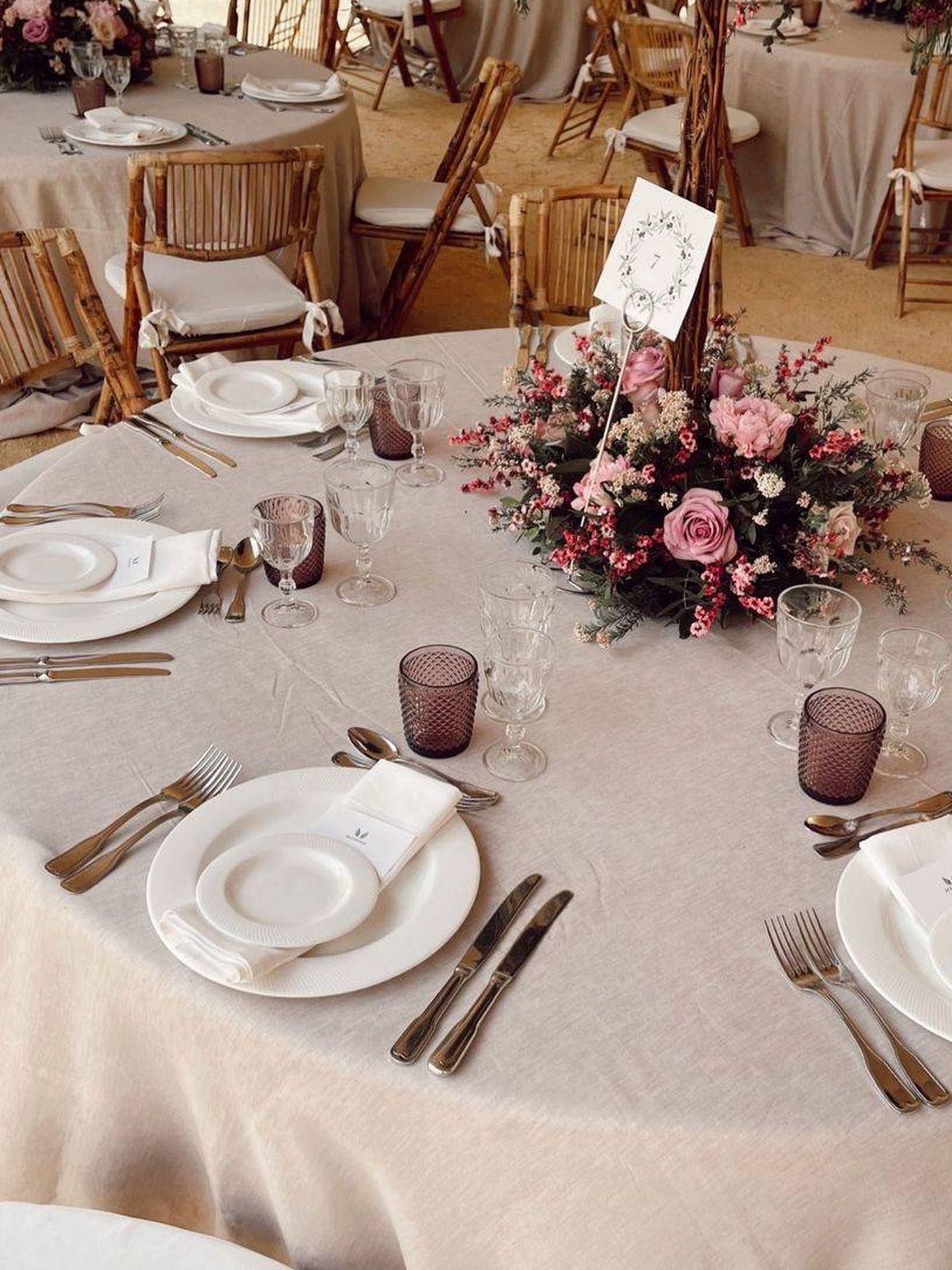 Una de las mesas de la boda. (Redes)