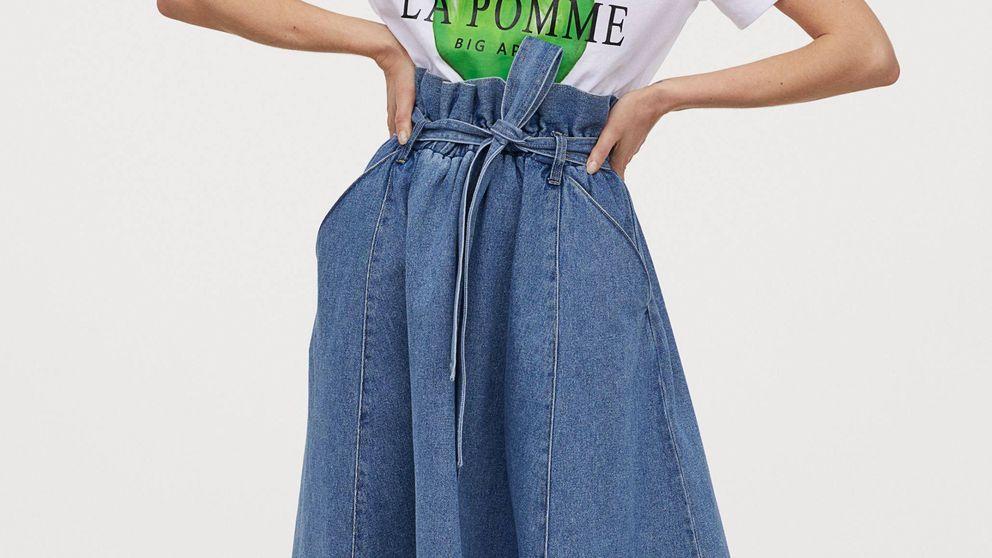 No has visto una falda vaquera tan preciosa como esta de H&M de línea evasé