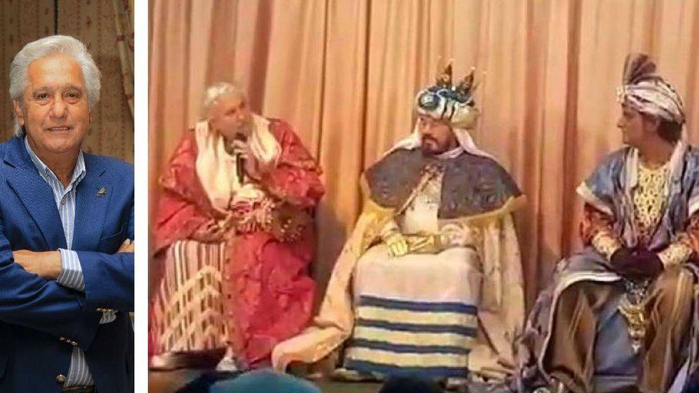 Foto:  Chiquetete caracterizado como uno de los reyes magos