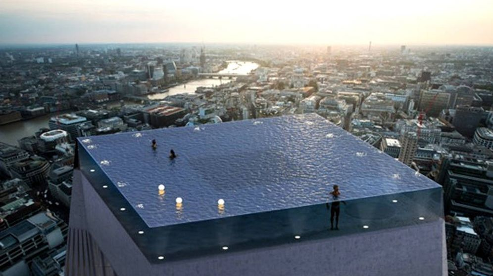 Foto: La piscina ofrecería unas vistas impresionantes de toda la ciudad (Foto: Compass Pools)