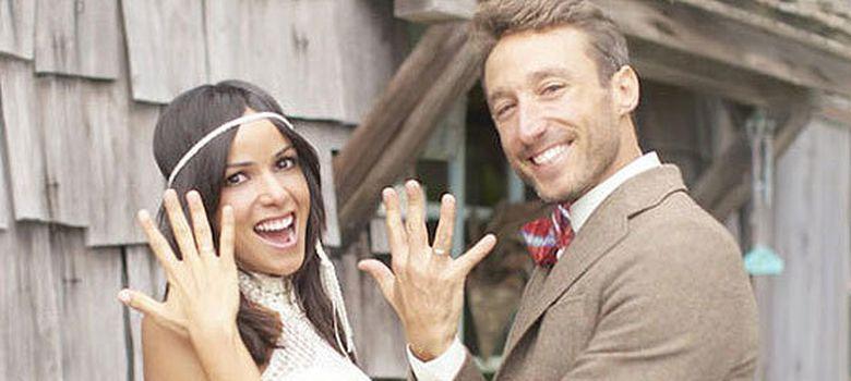 Foto: Imagen que la pareja subió a Twitter para anunciar su boda