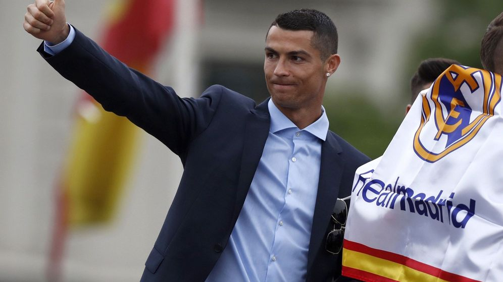 Foto: Cristiano Ronaldo, en la celebración de la última Champions ganada por el Real Madrid. (Reuters)