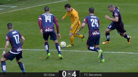 El Barça continúa con su paseo hacia el título tras una lección de Messi en Eibar