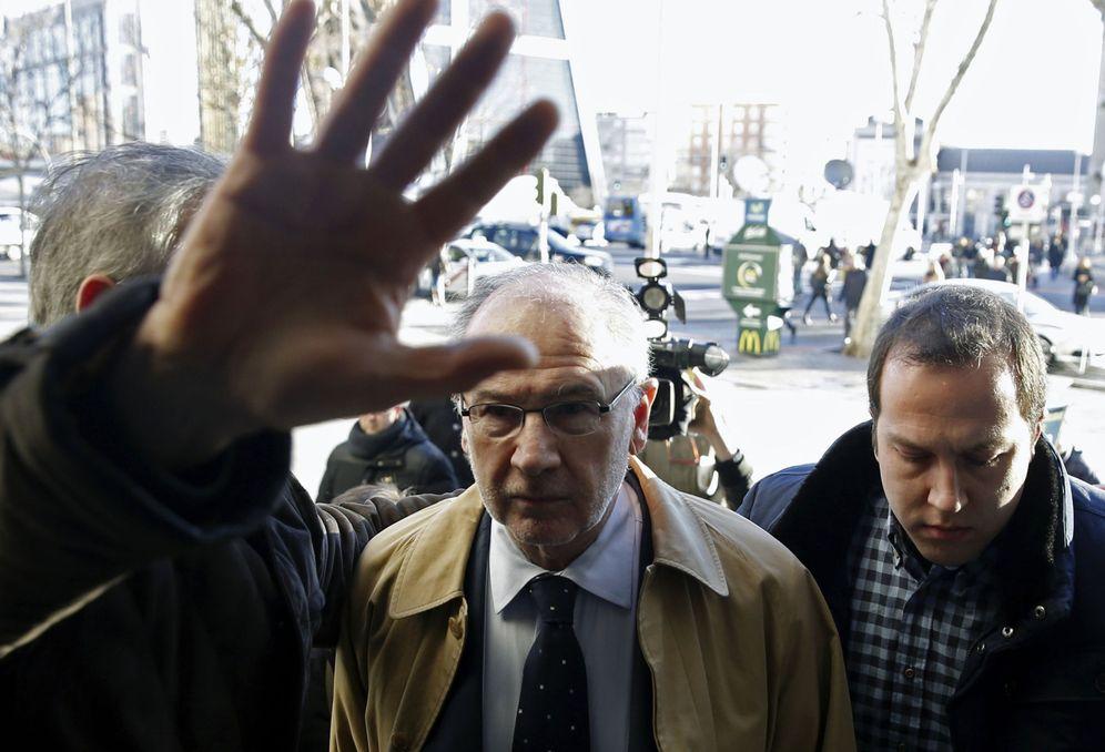 Foto: Rodrigo Rato comparece ante el juez el pasado mes de febrero (Efe)