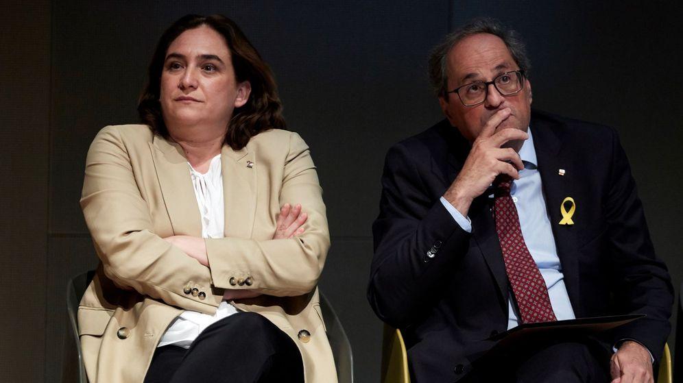 Foto: El presidente de la Generalitat, Quim Torra, y la alcaldesa de Barcelona, Ada Colau. (EFE)