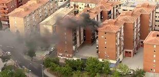 Post de El helicóptero de la Vuelta capta en directo el incendio de un piso en Toledo