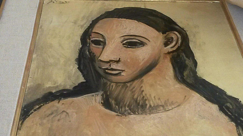 Foto: Un fragmento de la Cabeza de mujer joven, obra de Pablo Picasso de 1906, precedente de las Señoritas de Avignon. (EFE)