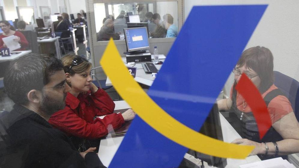 Foto: Oficina de la Agencia Tributaria (EFE/Albert Olivé)