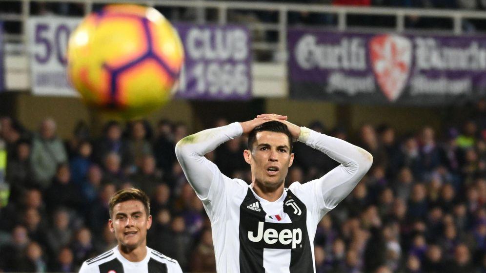 Foto: Cristiano Ronaldo, frente a la Fiorentina. (EFE)