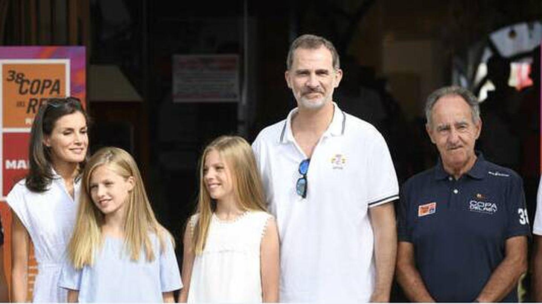 Los reyes y sus hijas en el Club Náutico en 2019. (Limited Pictures)
