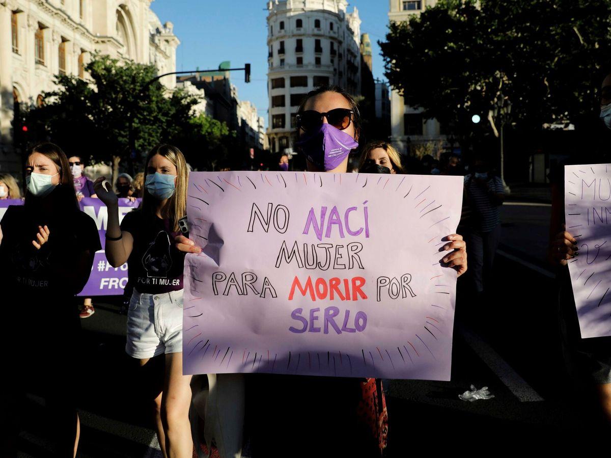 Foto: Manifestación contra la violencia machista en Valencia. (EFE)