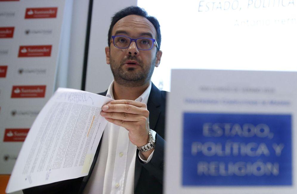 Foto: Antonio Hernando, durante su intervención en un curso de verano de la UCM en San Lorenzo de El Escorial, este 11 de julio. (EFE)
