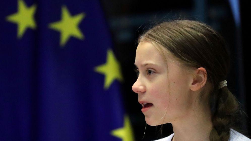 Foto: Greta Thunberg, en el Parlamento Europeo. Foto:REUTERS Yves Herman File Photo