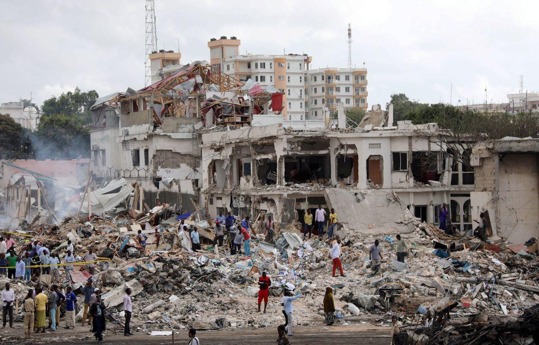 El hotel Safari después del atentado (Reuters)