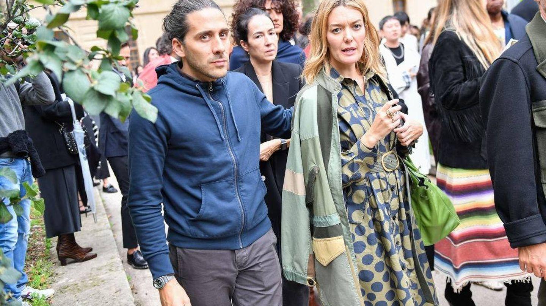 Marta Ortega y Carlos Torretta acuden al desfile de Valentino en París. (Getty)