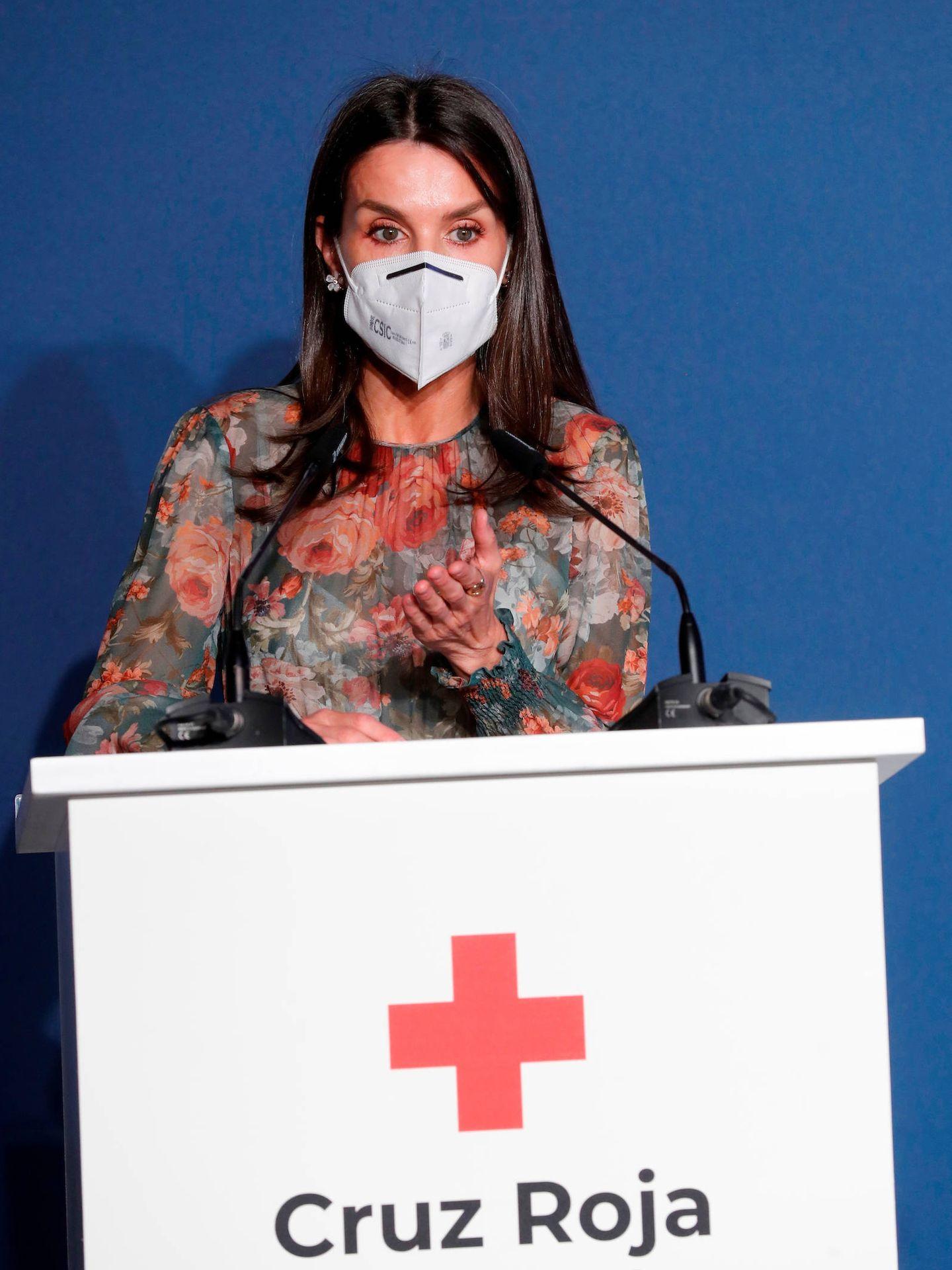 La reina Letizia, en el acto por el Día de la Cruz Roja. (Limited Pictures)