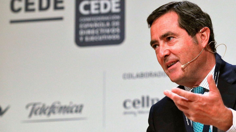Antonio Garamendi, en el congreso de directivos de la Fundación CEDE en Valencia. (EFE)