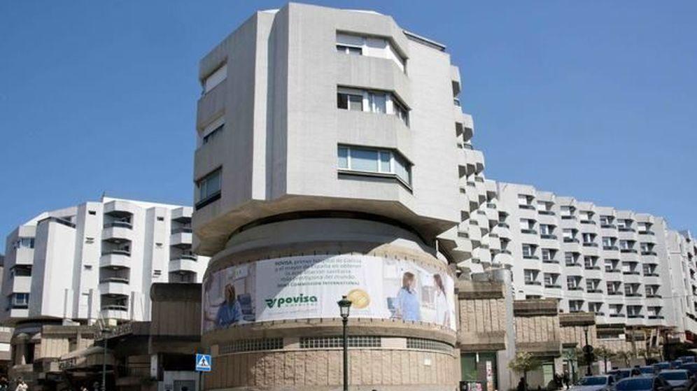Foto: Fotografía de la fachada del Hospital Povisa, en Vigo.