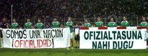 Cerca de 800 deportistas vascos apoyan a los futbolistas que no jugarán con Euskadi si no se llama Euskal Herria