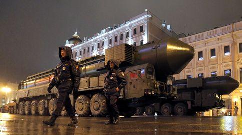 Ensayo para el desfile del día de la victoria en Moscú
