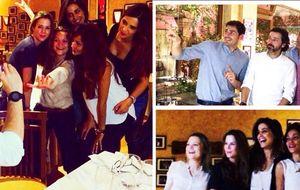 La genial noche de Carbonero, Amelia Bono y sus parejas