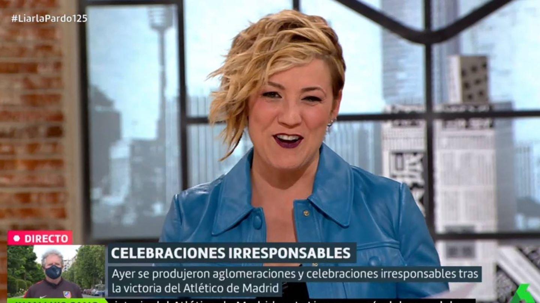 Cristina Pardo sacando punta al comentario de Villalobos. (La Sexta).