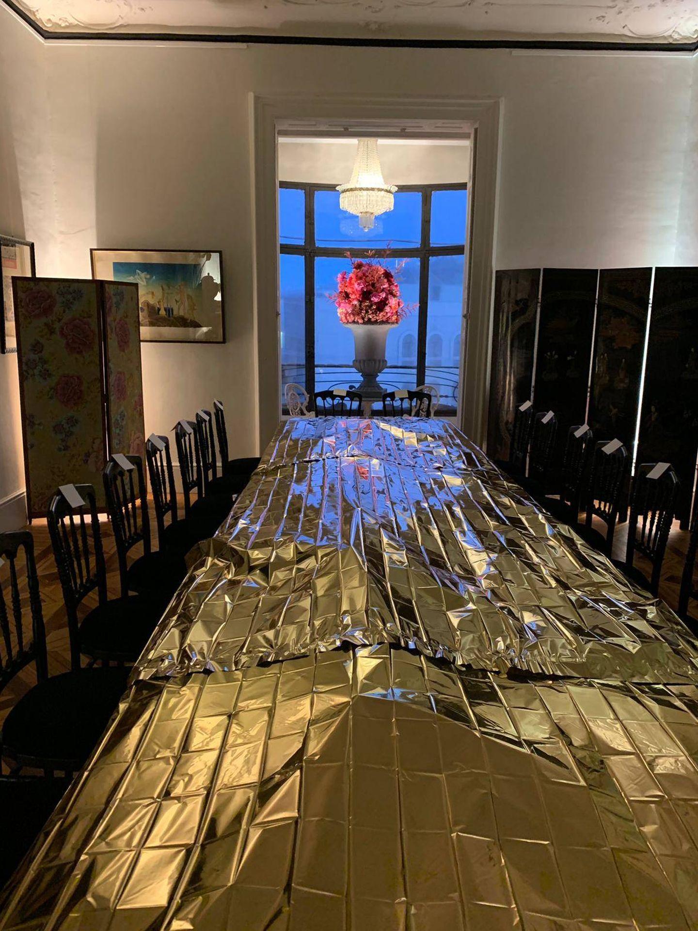 La mesa antes de llegar los invitados. (Vanitatis)