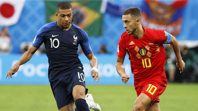 Hazard y Mbappé, dos de los candidatos a fichar por el Real Madrid. (EFE)