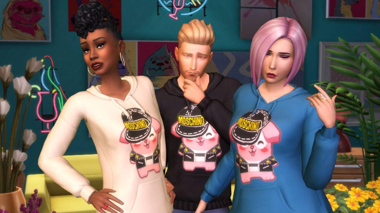 Imagen EA. (Moschino x Sims 4)