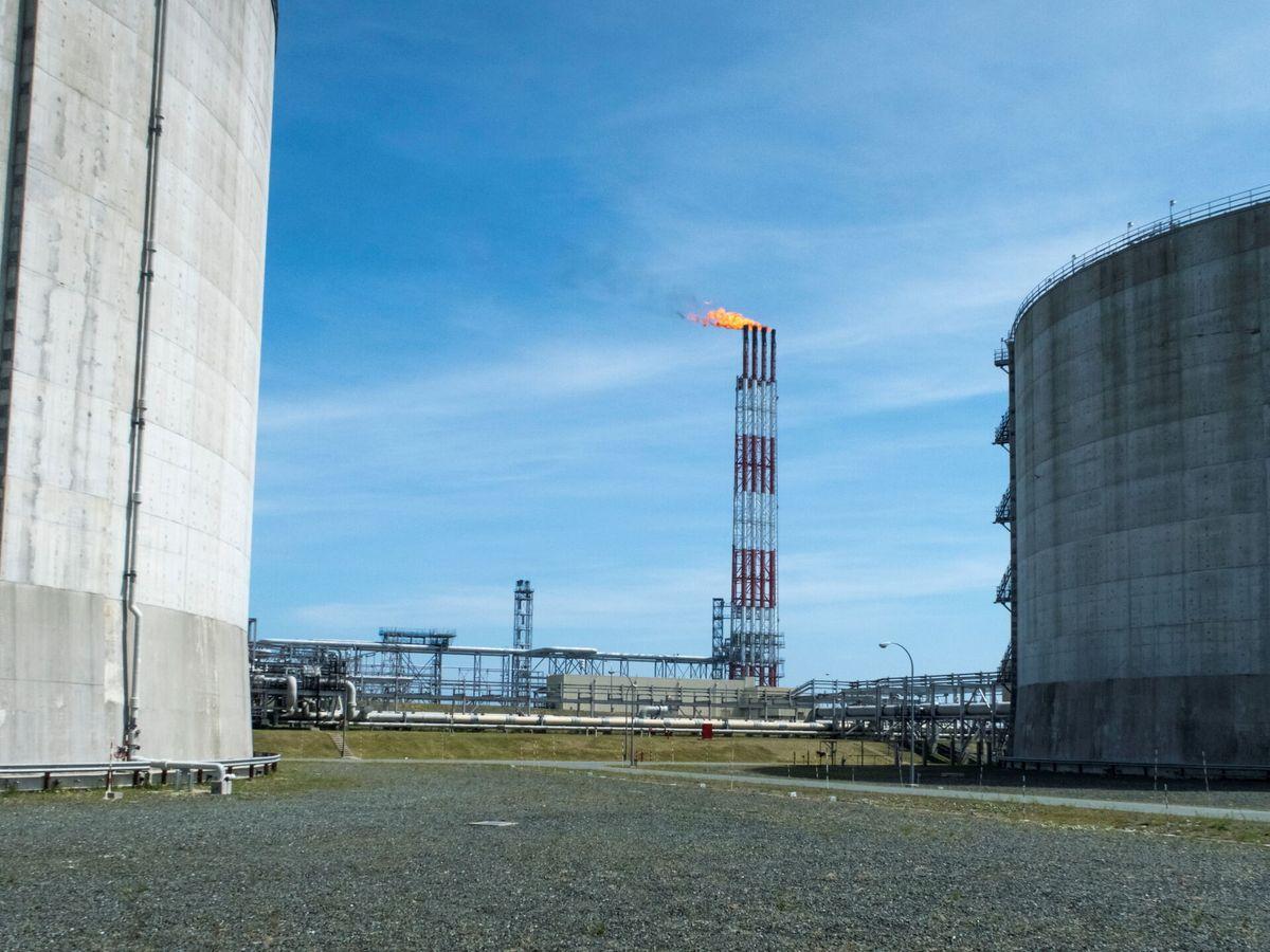 Foto: Planta de gas natural licuado. (Reuters)