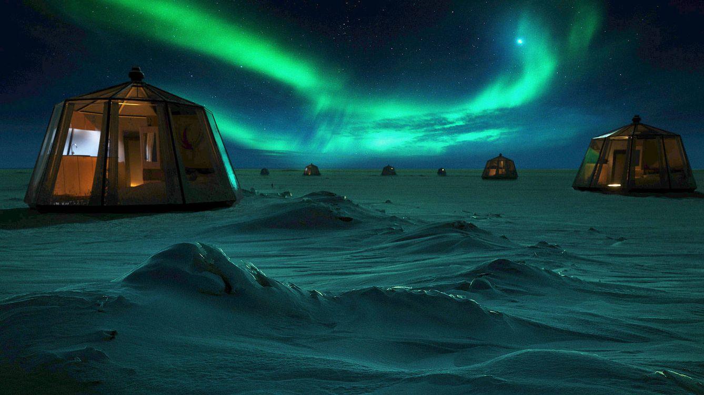 Dormir en un iglú bajo la aurora boreal del Polo Norte será posible, por 100.000 dólares